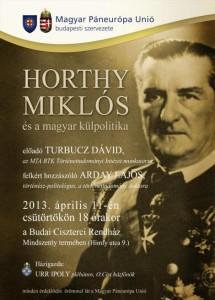 Horthy Miklósról-beszélgetés